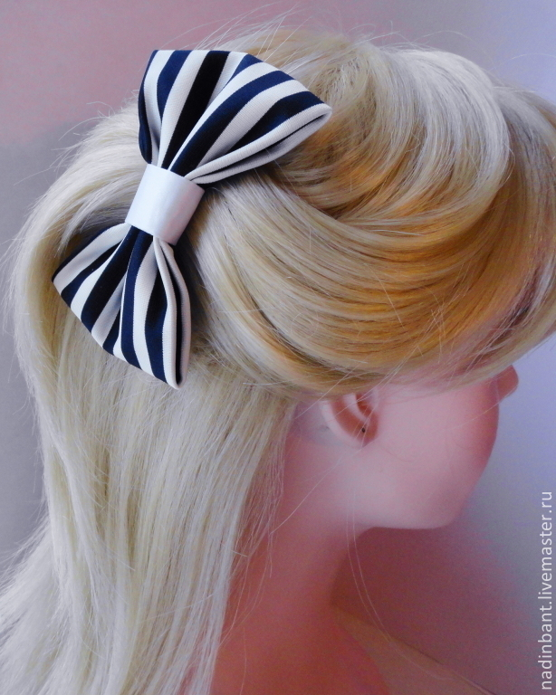 Бантик-заколка для волос