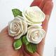 Свадебные украшения ручной работы. Заказать Розы из полимерной глины в прическу.. Юлия Шепелева Lovely Flowers Lab. Ярмарка Мастеров.