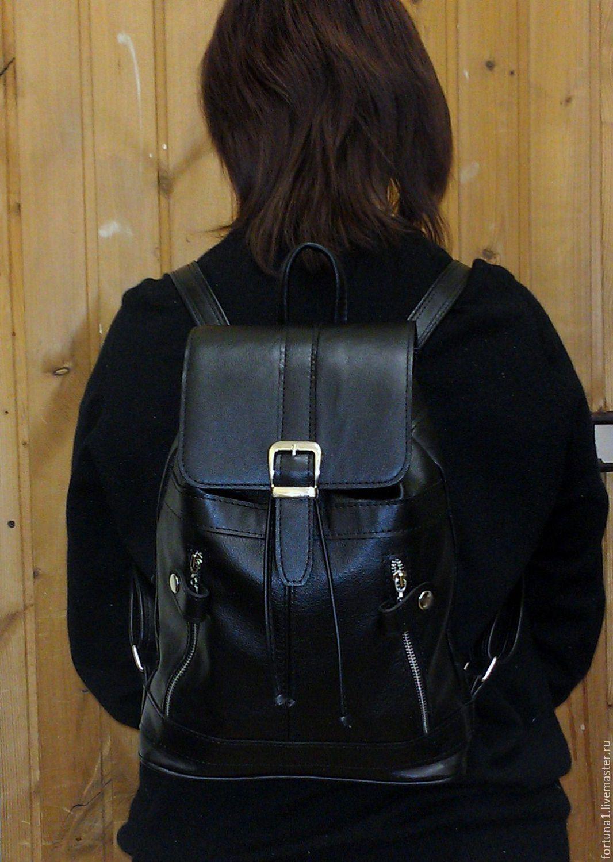Backpack leather city 1, Backpacks, St. Petersburg,  Фото №1