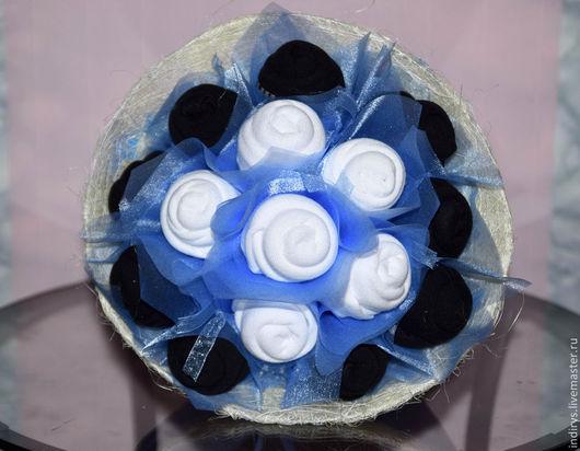 """Персональные подарки ручной работы. Ярмарка Мастеров - ручная работа. Купить Букет из мужских носков """"нежность"""". Handmade. Голубой"""