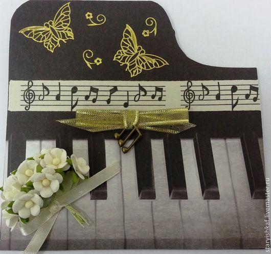 """Открытки на все случаи жизни ручной работы. Ярмарка Мастеров - ручная работа. Купить Открытка поздравительная """"Звуки музыки"""". Handmade."""