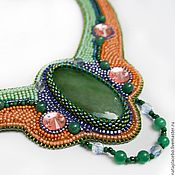 Украшения handmade. Livemaster - original item Beaded necklace Summer green orange violet. Handmade.