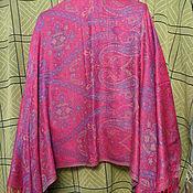 Винтаж handmade. Livemaster - original item Stole with Paisley pattern Tamarind,rayon,vintage Turkey. Handmade.
