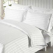 Для дома и интерьера handmade. Livemaster - original item White stripe satin bed linen. Handmade.
