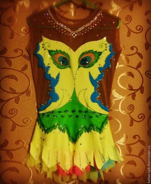 Танцевальные костюмы ручной работы. Ярмарка Мастеров - ручная работа. Купить Купальник для художественной гимнастики. Handmade. Желтый, купальник для девочки