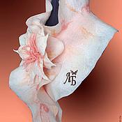 """Аксессуары ручной работы. Ярмарка Мастеров - ручная работа Шарф горжетка """"Бело-розовая"""". Handmade."""