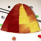 handmade. Livemaster - original item Knitted hat-cap hat-pumpkin. Handmade.