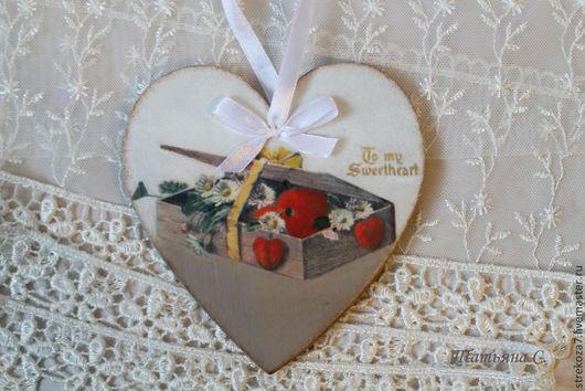 Подарки для влюбленных ручной работы. Ярмарка Мастеров - ручная работа. Купить Винтажное сердечко-валентинка. Handmade. Декупаж, винтажная валентинка