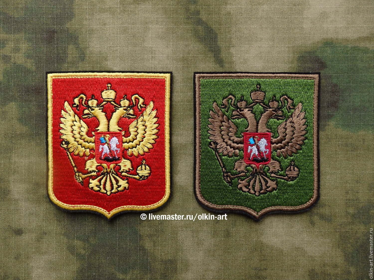 Stripe `Emblem of the Russian Federation` (color / black)  Machine embroidery. Beloretskiy stripe. Patch. Chevron. Patch. Embroidery. Chevrons. Patches. Stripe. To purchase a patch.