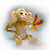 """Куклы и игрушки ручной работы. Ярмарка Мастеров - ручная работа Войлочная фигурка обезьяны — """"Озорник"""". Handmade."""
