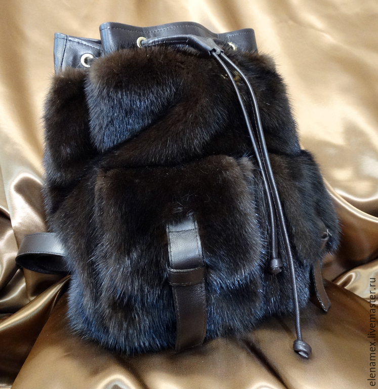 Рюкзак меховой рюкзаки олли для мальчиков