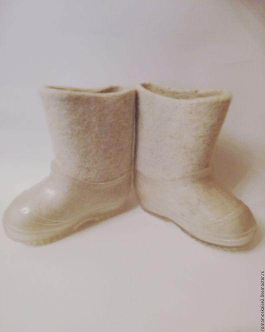 Детская обувь ручной работы. Ярмарка Мастеров - ручная работа. Купить Детские валенки. Handmade. Белый, валенки для улицы
