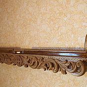 Для дома и интерьера ручной работы. Ярмарка Мастеров - ручная работа Резная деревянная полка под иконы. Handmade.