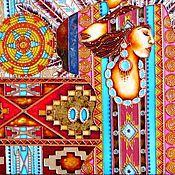 """Картины и панно ручной работы. Ярмарка Мастеров - ручная работа """"Песня Шамана"""" Витражное панно. Handmade."""