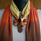 Аксессуары handmade. Livemaster - original item Scarf-necklace in a Ray of autumn. Handmade.
