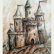 """Картины и панно ручной работы. Ярмарка Мастеров - ручная работа """"Крепость"""" рельефная картина. Handmade."""