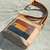 Сумки и аксессуары handmade. Livemaster - original item Bag ,genuine leather ,patchwork leather