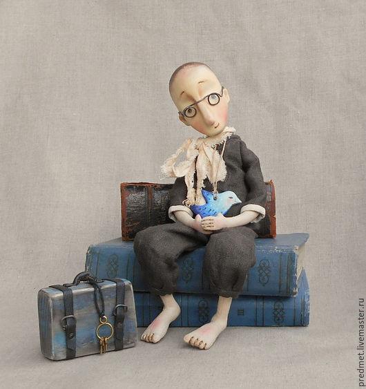 Коллекционные куклы ручной работы. Ярмарка Мастеров - ручная работа. Купить За Синей птицей. Handmade. Коричневый, синяя птица