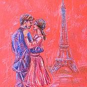 """Картины и панно ручной работы. Ярмарка Мастеров - ручная работа Картина """"Танец..Влюбленного Парижа"""". Handmade."""