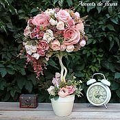 Топиарии ручной работы. Ярмарка Мастеров - ручная работа Топиарий дерево счастья Жизнь в розовом цвете. Handmade.