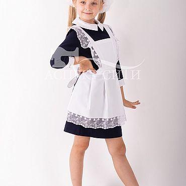 Товары для малышей ручной работы. Ярмарка Мастеров - ручная работа Фартук школьный белый, 3-270-1бд. Handmade.