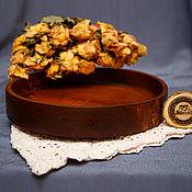 Для дома и интерьера handmade. Livemaster - original item Wooden Round Serving tray (27#1. Handmade.
