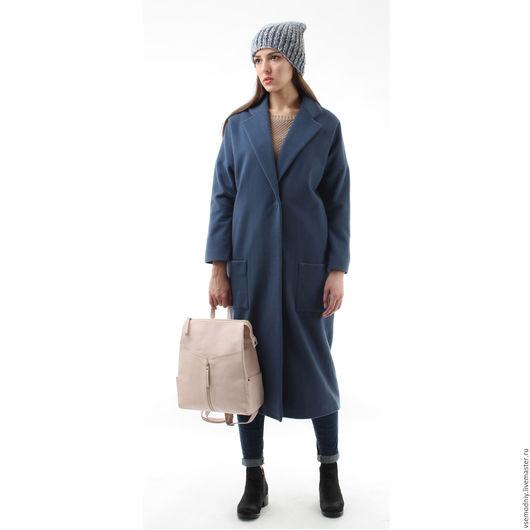Верхняя одежда ручной работы. Ярмарка Мастеров - ручная работа. Купить Пальто оверсайз длинное SALE. Handmade. Серый