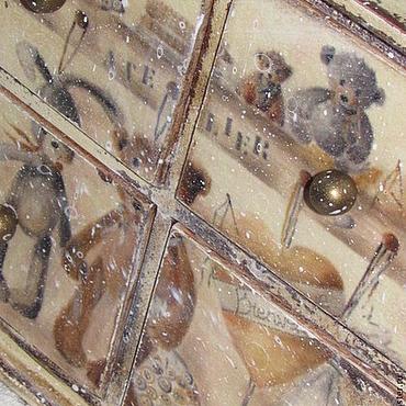 """Для дома и интерьера ручной работы. Ярмарка Мастеров - ручная работа Комодик """"Игрушки"""". Handmade."""