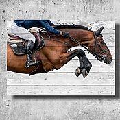 """Картины ручной работы. Ярмарка Мастеров - ручная работа Картина на досках. Коллекция """"Лошадки"""". Handmade."""