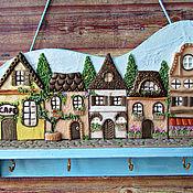Для дома и интерьера handmade. Livemaster - original item Housekeeper Summer in Provence. The housekeeper wall.Decor with polymer clay.. Handmade.