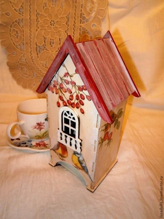 Кухня ручной работы. Ярмарка Мастеров - ручная работа. Купить чайный домик красные ягоды. Handmade. Чайный домик, балкон