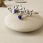 Украшения handmade. Livemaster - original item A set of silver cuff - Minimalist earrings transformers. Handmade.