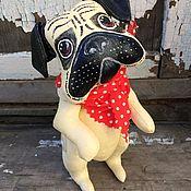 Куклы и игрушки ручной работы. Ярмарка Мастеров - ручная работа Собака. Мопс Локки. Handmade.