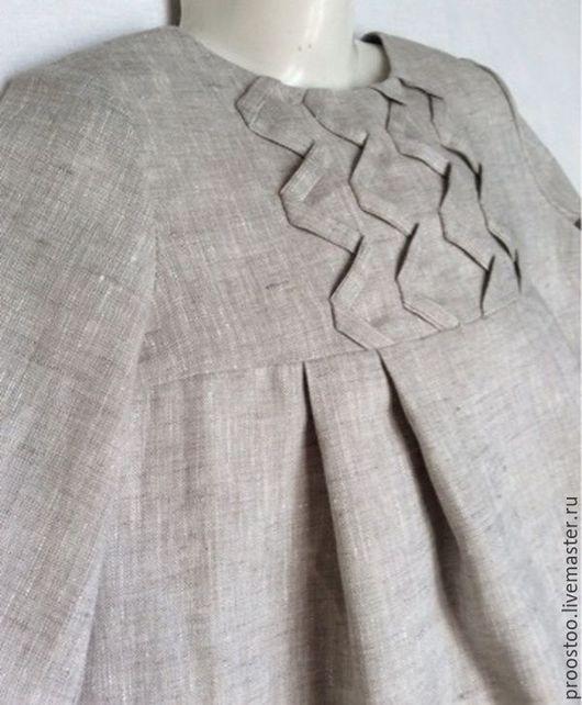 Платья ручной работы. Ярмарка Мастеров - ручная работа. Купить Платье детское светло-серое с рукавами из100%льна.. Handmade. Серый