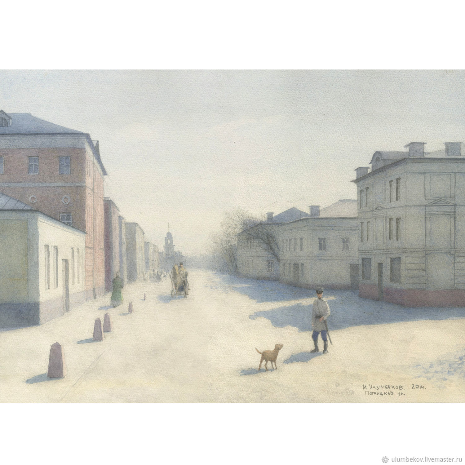 To buy the painting style in watercolors Moscow, Pyatnitskaya street, Pictures, Moscow,  Фото №1