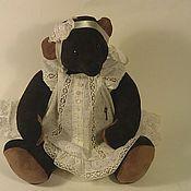 """Куклы и игрушки ручной работы. Ярмарка Мастеров - ручная работа замшевый  мишка Mina с """"ревуном """".. Handmade."""