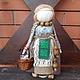 """Народные куклы ручной работы. Ярмарка Мастеров - ручная работа. Купить Кукла-оберег здоровья """"Внучка знахарки"""". Handmade. Зеленый"""