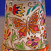 """Куклы и игрушки ручной работы. Ярмарка Мастеров - ручная работа Наперсток фарфоровый """"Бабочки лета"""". Handmade."""