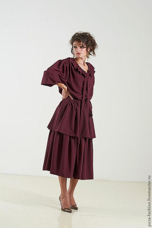 """Платья ручной работы. Ярмарка Мастеров - ручная работа. Купить Платье """"Богема"""". Handmade. Платье, бордовое платье, нежное платье"""