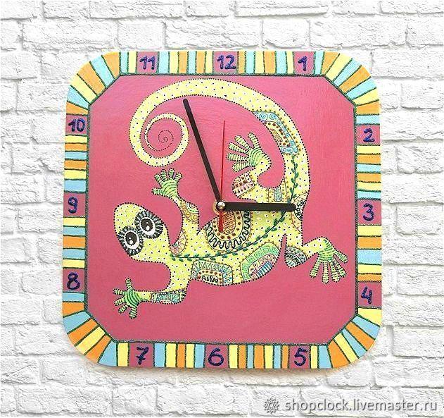 Ящерица. Часы настенные, детские, Часы классические, Новосибирск,  Фото №1