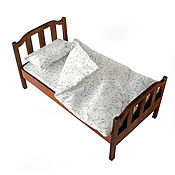Куклы и игрушки handmade. Livemaster - original item Bed No. №1 for dolls 1:6 (Barbie), 1:4: 1:3 MSD,  SD. Handmade.