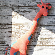 Мягкие игрушки ручной работы. Ярмарка Мастеров - ручная работа Игрушка вязаная Жираф. Handmade.