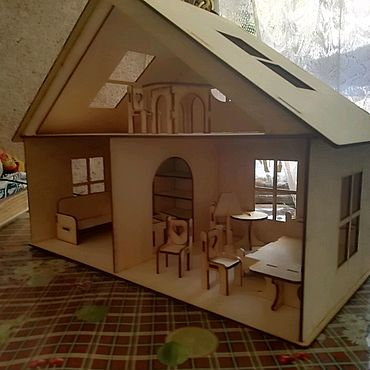 Куклы и игрушки ручной работы. Ярмарка Мастеров - ручная работа Кукольный домик с мебелью. Handmade.