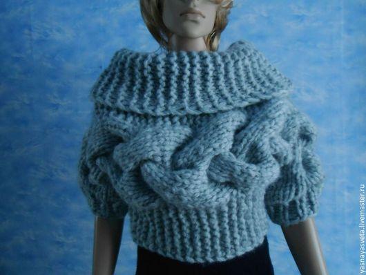 Кофты и свитера ручной работы. Ярмарка Мастеров - ручная работа. Купить Свитер со съемным воротником женский. Handmade.