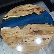 """Столы ручной работы. Ярмарка Мастеров - ручная работа Стол """"Синяя река"""". Handmade."""