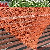 Аксессуары handmade. Livemaster - original item Vivid Openwork Shawl with cashmere and silk knitting. Handmade.
