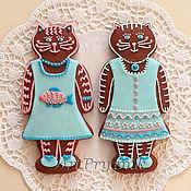Сувениры и подарки ручной работы. Ярмарка Мастеров - ручная работа Модные кошки, мягкие имбирные пряники, подарок ребенку. Handmade.