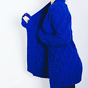 Одежда handmade. Livemaster - original item A sky-blue jacket Blue Hortensi in a classic style. Handmade.