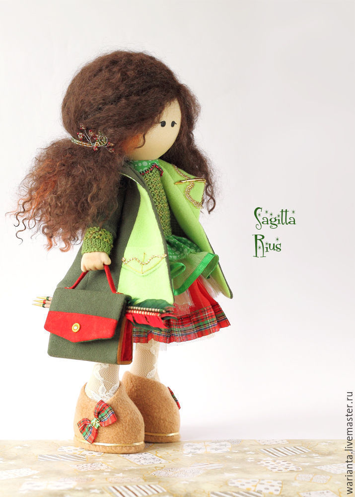 Кукла текстильная. Стрелец.Знаки зодиака.Сагитта Риус, Куклы, Иркутск, Фото №1