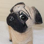 Куклы и игрушки ручной работы. Ярмарка Мастеров - ручная работа Мопсик  по фотографии. Handmade.